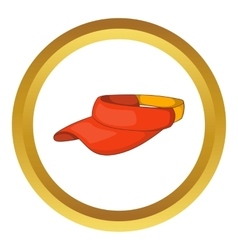 Sun cap icon vector