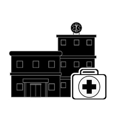Hospital and first aid kit icon vector