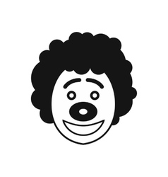 Clown head icon in simple style vector