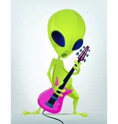 Cartoon alien guitar vector