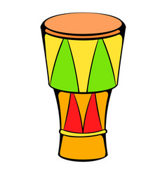 Atabaque musical instrument icon cartoon vector
