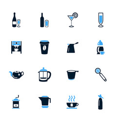 Utensils for beverages icons set vector