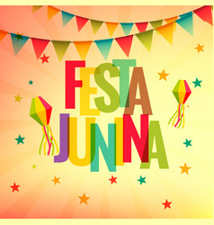 Festa junina celebration party background vector