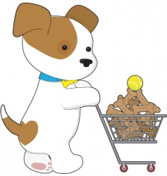 cute puppy shopping vector image
