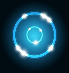 Abstract background with blue circle vector image