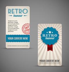 Old retro vintage grunge cards vector image