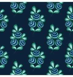 Blue berries seamless pattern stock natural vector