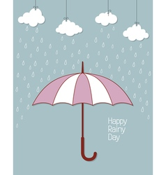 Happy rainy day vector