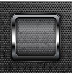 glass frame metallic background 10 vector image