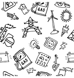 Energy icons pattern vector