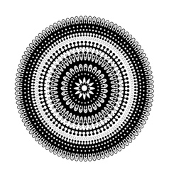 Circular lace pattern black and white vector