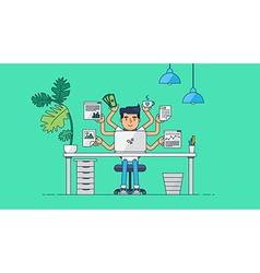 Creative Tech Workspace vector image