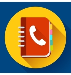 Address phone book icon notebook icon flat vector