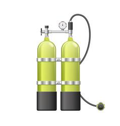 Aqualang or scuba oxygen balloons vector