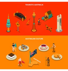 Australian touristic attractions 2 isometric vector