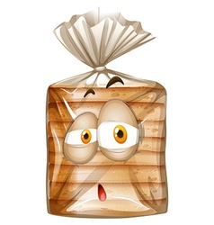 Bag of bread with sad face vector