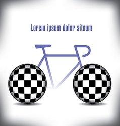 Bicycle checkered vector image vector image
