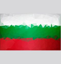 bulgarian flag low poly white green red flag vector image vector image