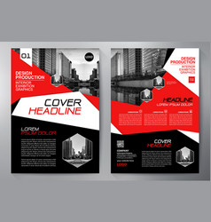 business brochure flyer design a4 template vector image