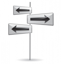 crossroad with arrow vector image vector image
