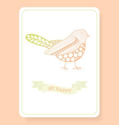 cute doodle be happy vector image