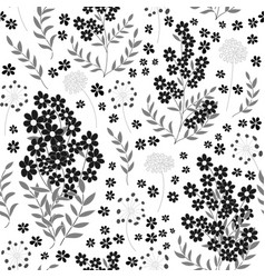 cute seamless pattern in small flower black and vector image vector image