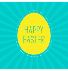 Easter yellow egg Sunburst background Card vector image