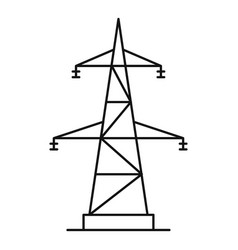 Electrical power station icon outline style vector
