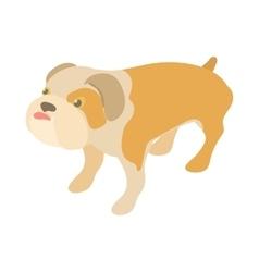 English bulldog icon cartoon style vector