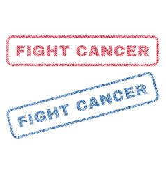Fight cancer textile stamps vector