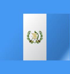 Flag guatemala flat icon vector