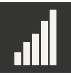 Flat in black and white mobile application chart vector