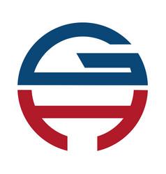 gh modern letter logo design vector image