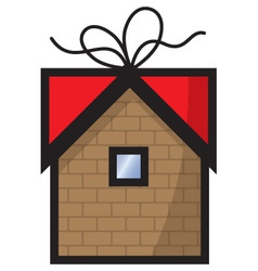gift home icon vector image vector image