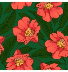 Hand Drawn Seamless Flower Pattern vector image vector image