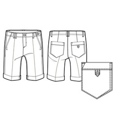 knee length shorts vector image