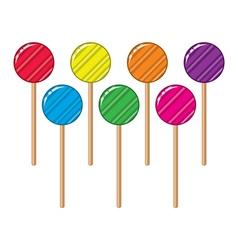 lollipop candy balls vector image vector image