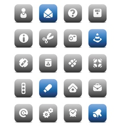 Matt miscellaneous buttons vector image vector image