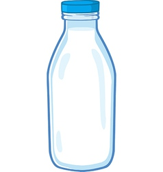 Milk bottle cartoon vector image vector image