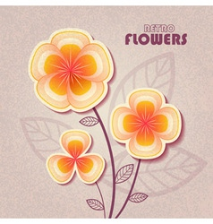retro flower vector image