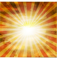 Retro Square Shaped Sunburst vector image vector image