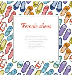 seamless background with womens shoes vector image