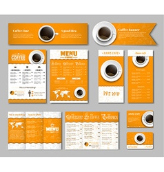 Set coffee corporate identity vector image
