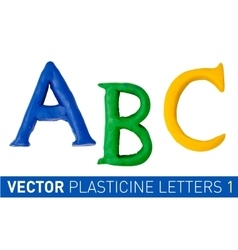 Set of plasticine letters of english alphabet vector