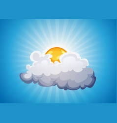 Sky background with sunshine and cloud vector