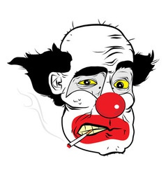 Smoking Clown Preview vector image