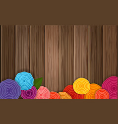 Spring flower background poster abstract flowers vector