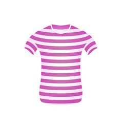 Striped t-shirt in pink and white design vector