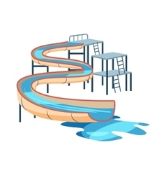 Waterslide in pool icon cartoon style vector