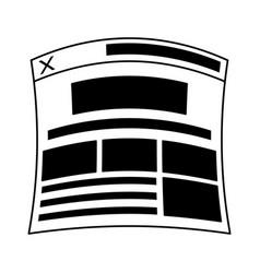 Web page or tab icon image vector